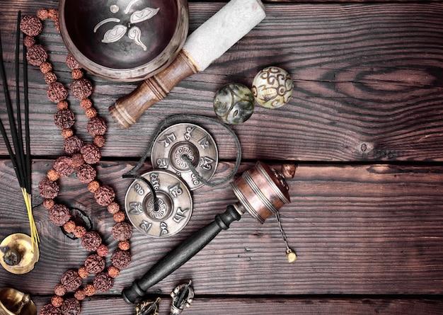 Objets religieux tibétains à méditer