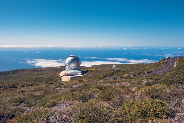 Observatoire astronomique de roque de los muchachos, la palma, îles canaries, espagne