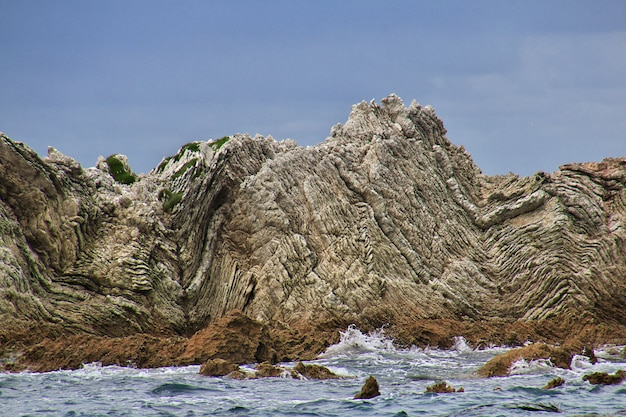 Océan pacifique à kaikoura, nouvelle zélande
