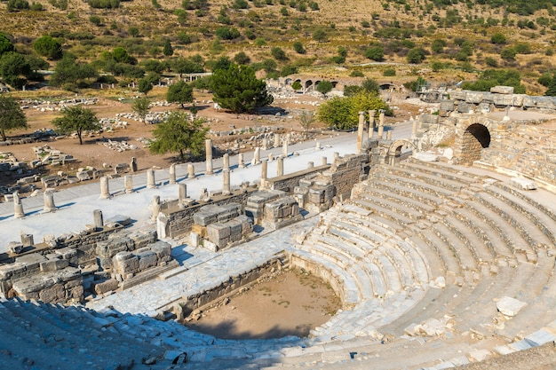 Odéon - petit théâtre dans la ville antique d'éphèse, turquie