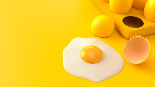Oeuf au plat sur jaune.