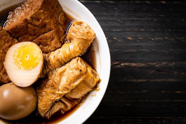 Œuf dur en sauce brune ou sauce douce