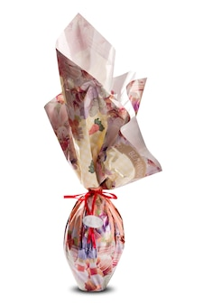 Oeuf de pâques avec emballage sans marque