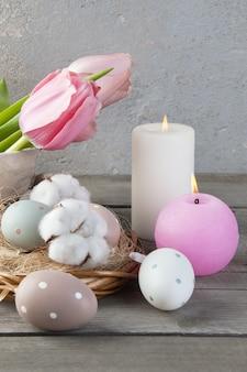Œufs et bougies parfumées