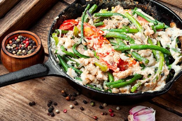 Oeufs brouillés alimentaires provenant de protéines