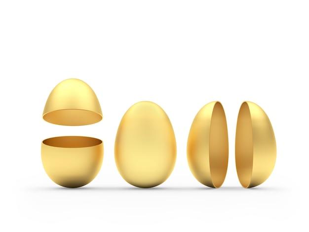Oeufs entiers et cassés dorés