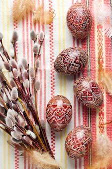 Oeufs de pâques ukrainiens traditionnels