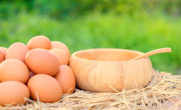 Les œufs de qualité sont riches en protéines et en nutriments. fraîches, adaptées à la cuisson.