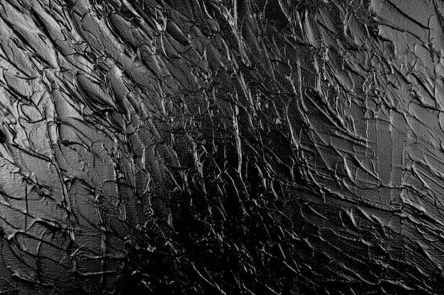 Oeuvre originale faite à la main fond noir texture irrégulière acrylique abstrait sur toile