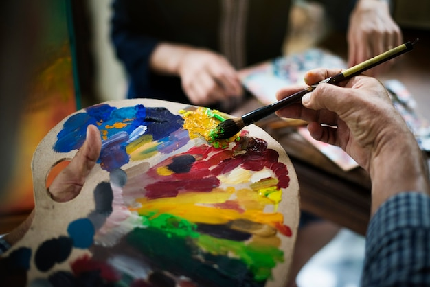 Oeuvre de peinture acrylique
