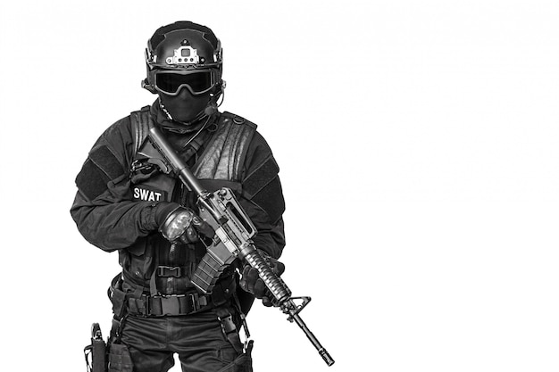 Officier de police spec ops swat