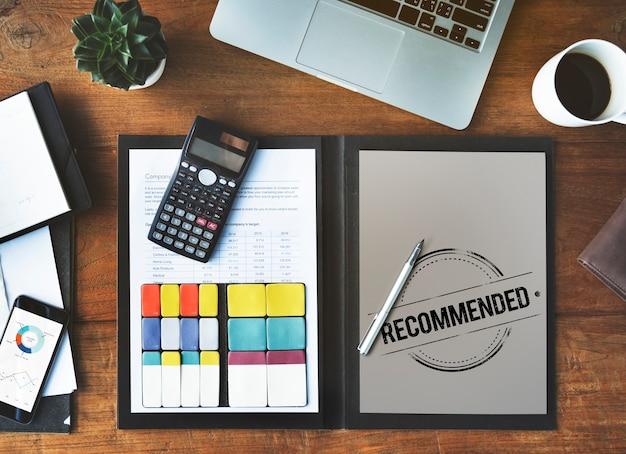 Offre recommandée référer satisfaction suggestion concept