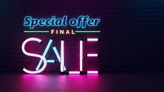 Offre spéciale vente finale.