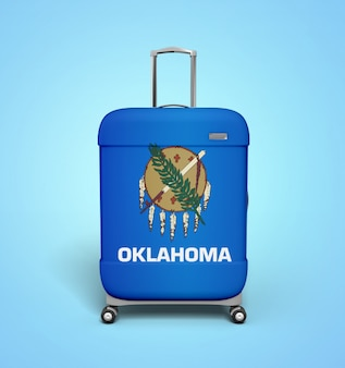 Oklahoma flag suitcase - vacances