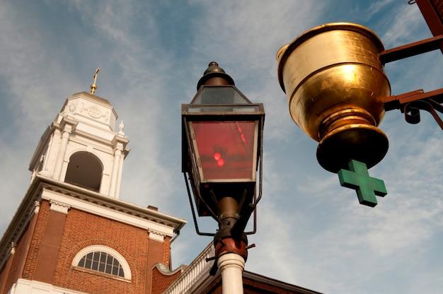 Old north church à boston, massachusetts, états-unis