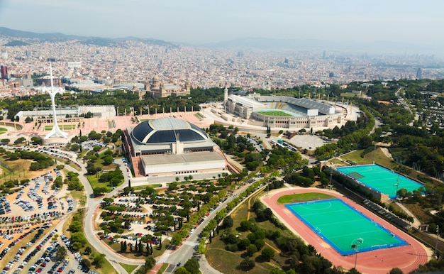 Olimpic zone de montjuic. barcelone, espagne