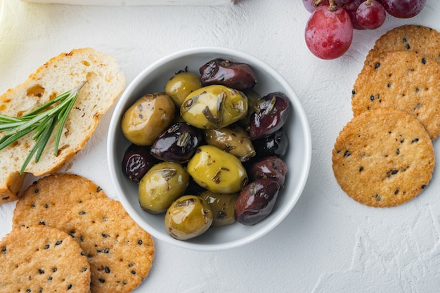 Olives grecques fraîches, vue de dessus