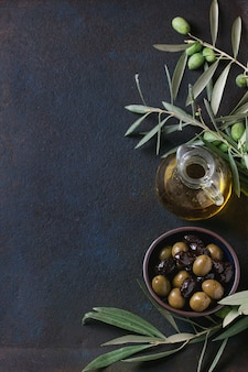 Olives noires et vertes