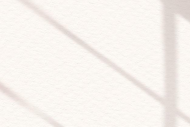 Ombre de fenêtre esthétique blanc cassé sur fond de texture