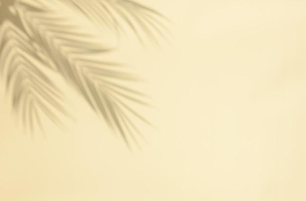 Ombre de feuille de palmier sur fond beige pastel. abstrait clair neutre de feuille de palmier ombres avec copie-espace.