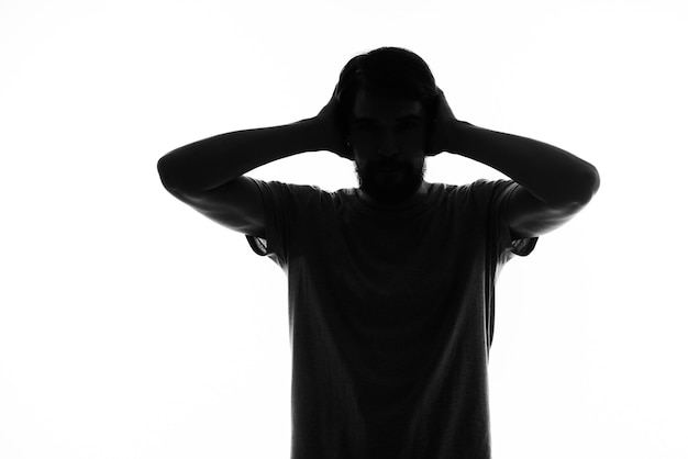 Ombre hommes silhouette geste mains émotions distribution