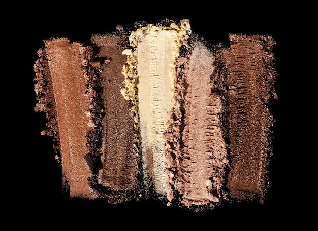 Ombre à paupières chatoyante mate multi couleur palette brun nu texture de fond