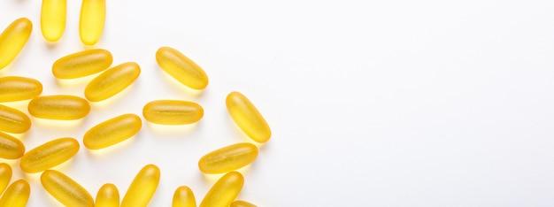 Oméga 3 gélules huile de poisson gélules jaunes vitamine