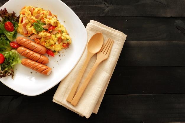 Omelette aux oignons,