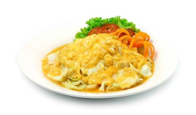 Omelette crémeuse au chou style cuisine thaïlandaise