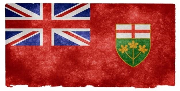 Ontario flag grunge