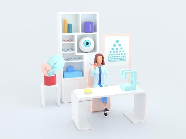 Ophtalmologiste de la série healthcare. spécialiste ophtalmologiste au travail.