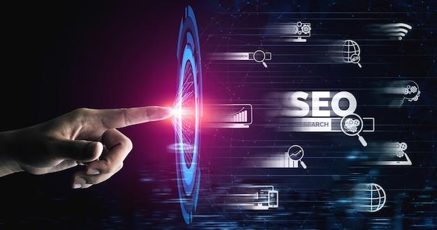 Optimisation des moteurs de recherche pour le concept de marketing en ligne.