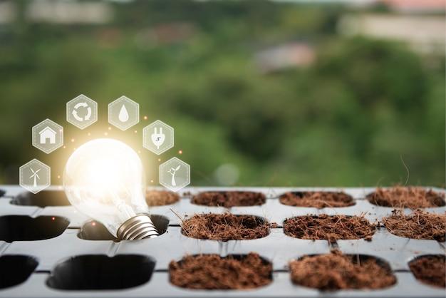 Options énergétiques respectueuses de l'environnement et durables énergie renouvelable et durable