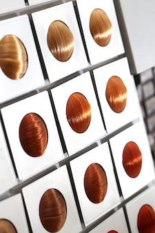 Options de tonalité des cheveux