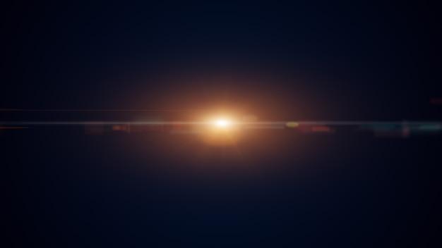 Or abstrait numérique avec des particules de vague, la lueur scintille et l'espace avec la profondeur de champ.
