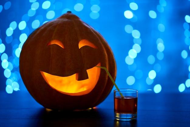 Orange citrouille avec décoré pour halloween