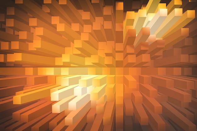Orange extruder abstrait géométrique