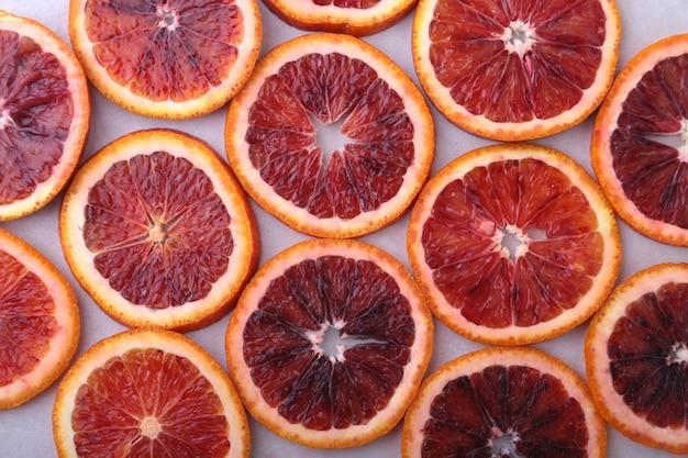 Orange. fond avec une tranche d'orange.