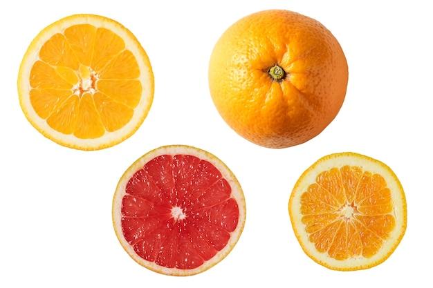 Orange isolé sur blanc.