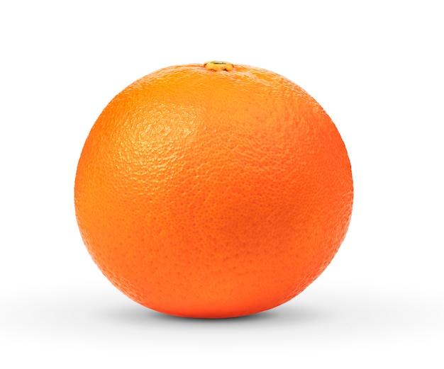 Orange mûre sur blanc