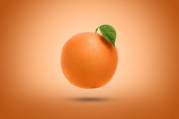 Orange sur une orange. artistique.
