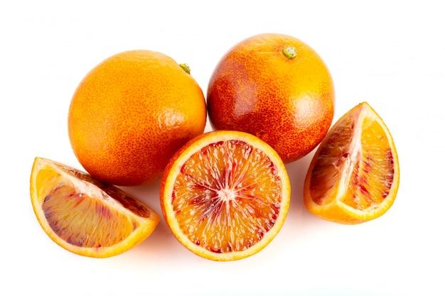 Orange sanguine isolée