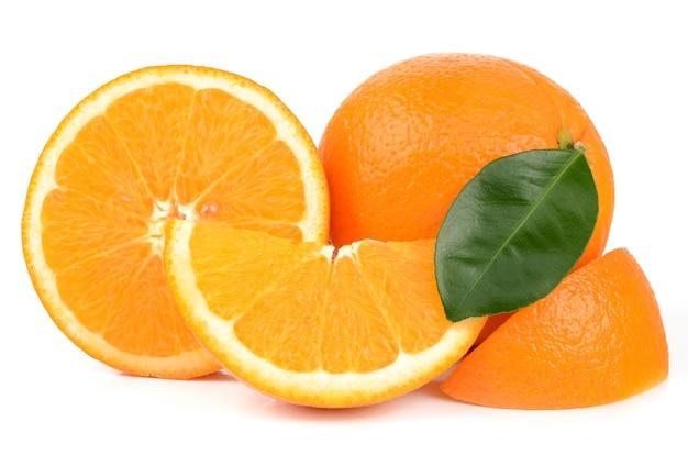 Oranges bouchent détail isolé