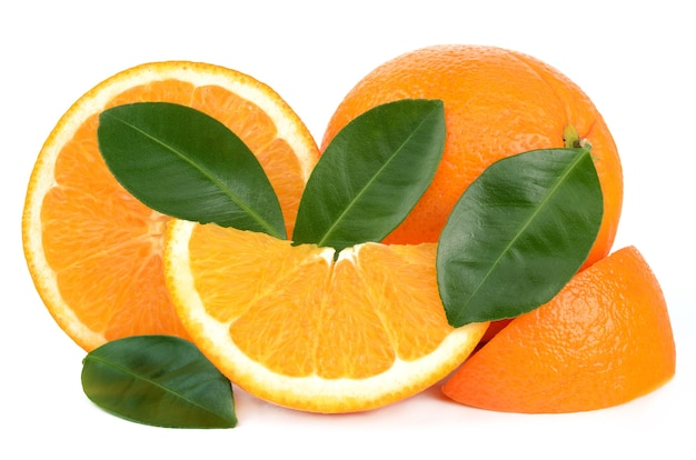 Oranges isolés sur blanc