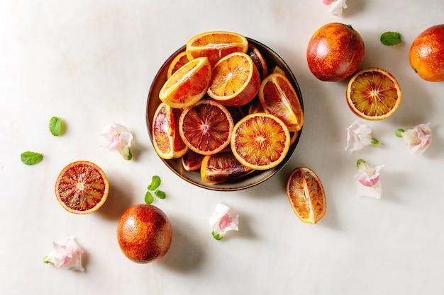 Oranges sanglantes siciliennes