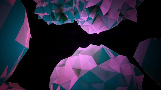 Orbe liquide violet abstrait de mouvement dans le cosmos, fond noir. style d'illustration 3d élégant et luxueux pour le modèle moderne et cosmos