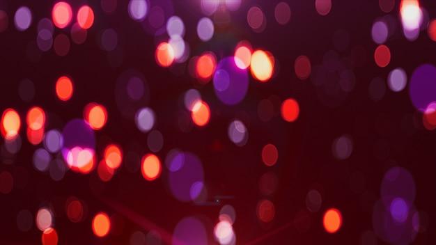Orbes colorés arrière-plan flou bokeh