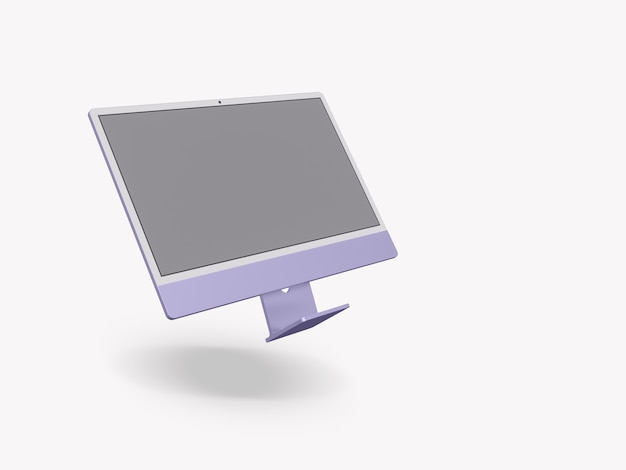Ordinateur avec écran vide