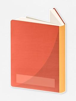 Ordinateur portable avec une icône de la couverture orange