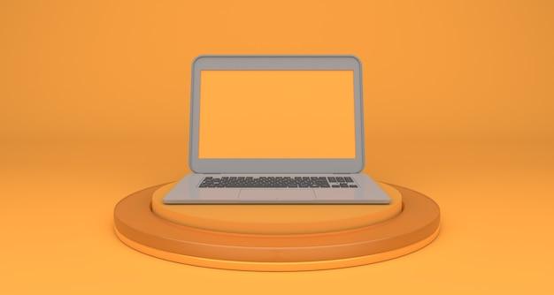 Ordinateur portable moderne pour le marketing en ligne